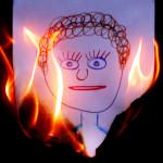 Brinnande teckning